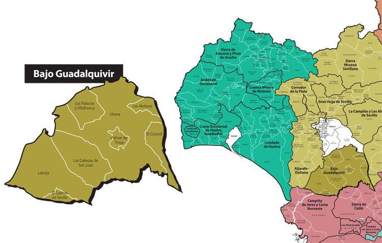 Diseñado el nuevo mapa de la comarca tras la segregación de El Palmar de Troya