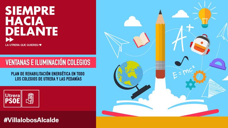 ELECCIONES 2019: El PSOE promete cambiar la iluminación y las ventanas de los colegios de Utrera