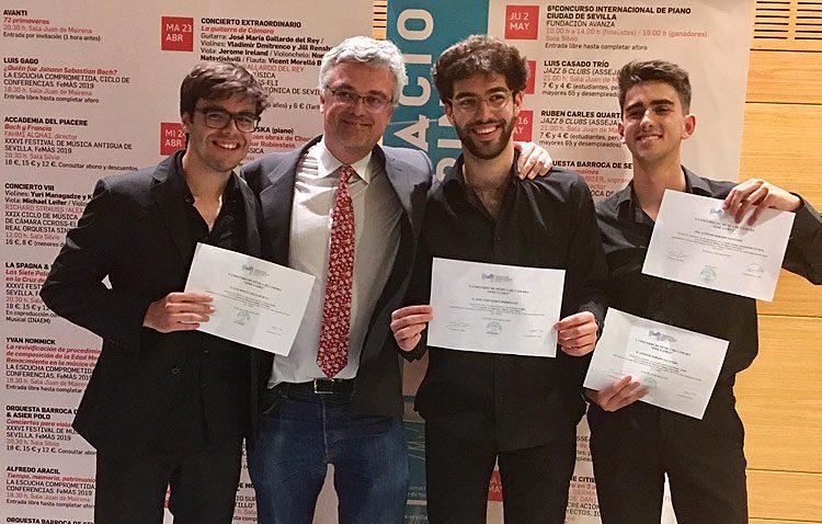 El trío Sedhu, donde se encuentra el joven pianista utrerano Pepe Fernández, gana el certamen de cámara «José Gámez»