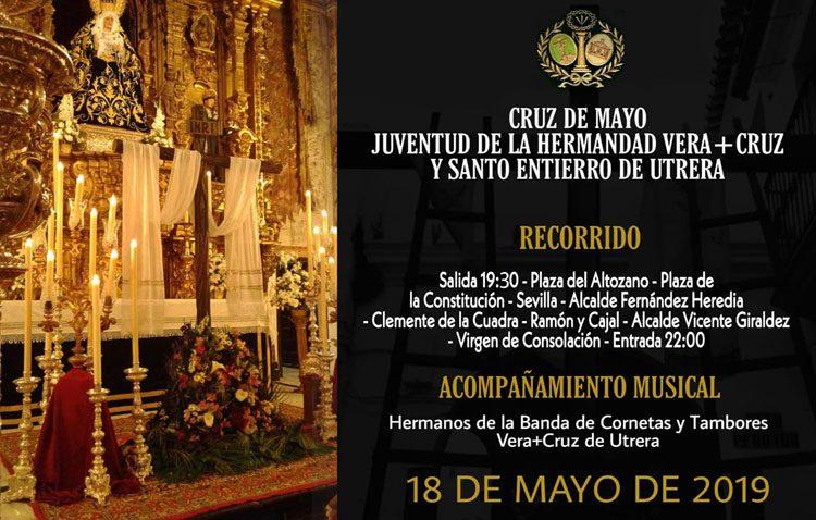 Procesión de cruz de mayo en la hermandad de la Vera-Cruz