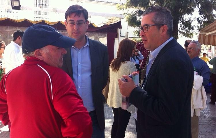 El PSOE hace campaña en Utrera de cara a las elecciones regionales