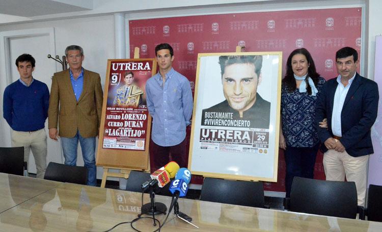 El concierto de Bustamante en Utrera será el 29 de agosto