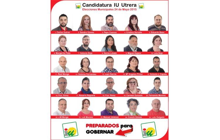 IU aprueba su candidatura para las elecciones municipales de Utrera