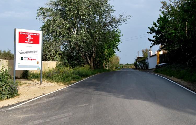 El camino de Los Molares y el acceso a Vistalegre lucen ya con nuevo firme