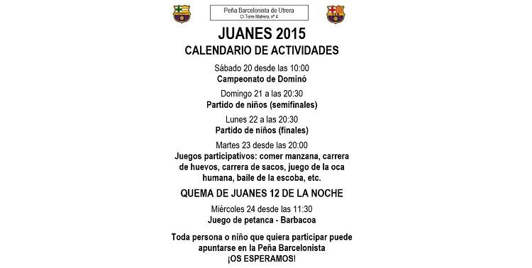 Multitud de actividades lúdicas en la Peña Barcelonista con motivo de «Los Juanes»