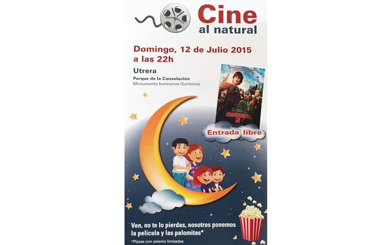 Sesión de cine familiar en el parque de Consolación