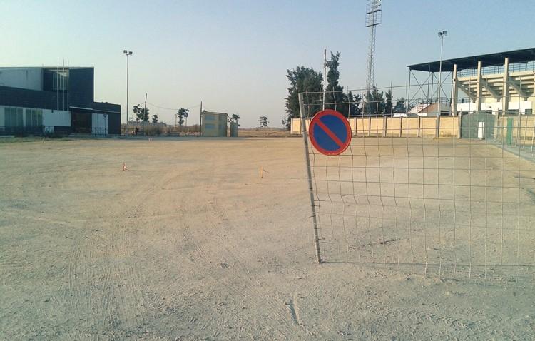La construcción del centenar de aparcamientos en la zona deportiva de Vistalegre, ya en marcha