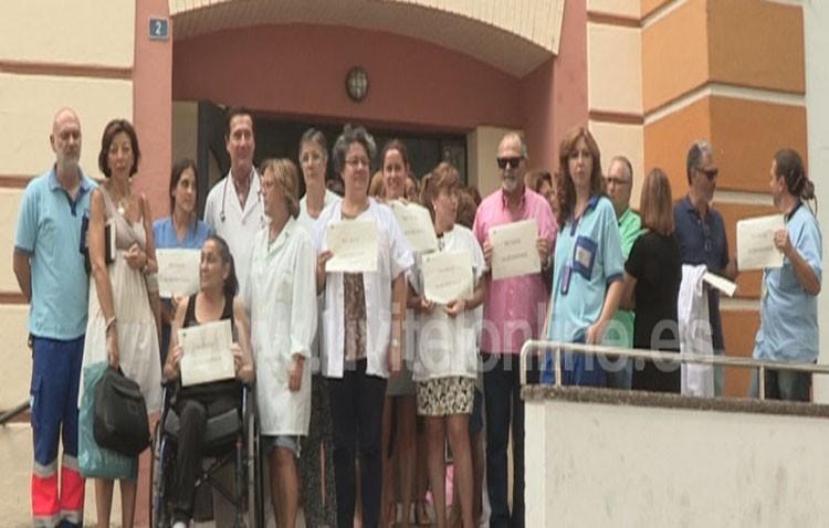 Manifestación de apoyo a un médico agredido en Utrera