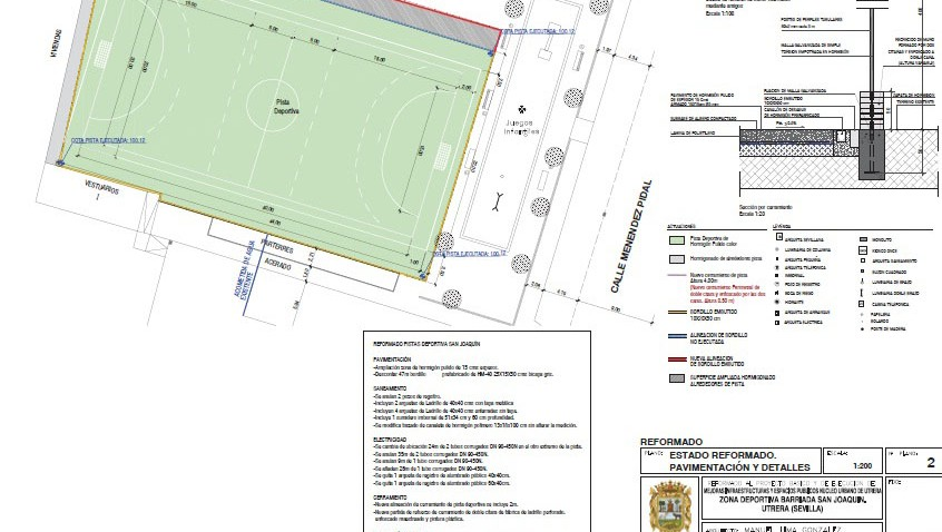 El alcalde accidental asegura que el proyecto de la pista deportiva de San Joaquín no incluía césped artificial