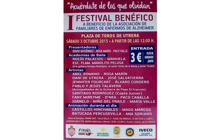 Festival benéfico a favor de la asociación de enfermos de alzheimer