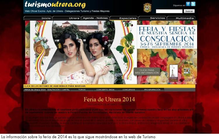 El PA critica que no exista «ni una sola referencia» a la feria en las webs del Ayuntamiento y de Turismo