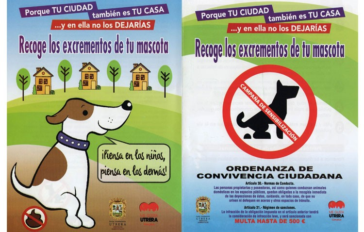 Los utreranos califican de «fracaso» la campaña de recogida de excrementos caninos (AUDIO)