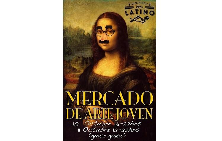Mercado de «arte joven» en el Bar Latino