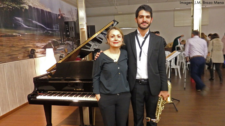 Brillante concierto de saxofón y piano para concluir los actos del Día de Santa Cecilia