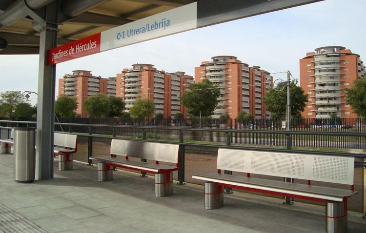 La mayoría de trenes saldrán un minuto antes de Utrera por la apertura de la nueva estación Jardines de Hércules