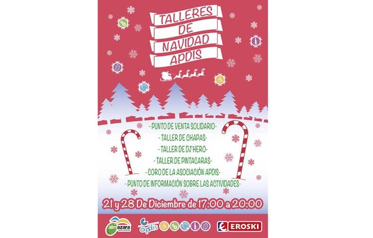 Apdis organiza dos jornadas de talleres de Navidad