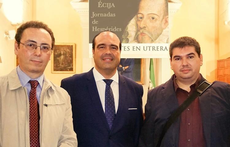Julio Mayo habló en Écija sobre la presencia de Cervantes en Utrera