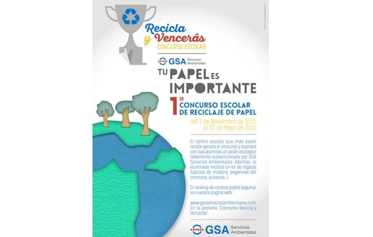 Primer concurso escolar de reciclaje de papel