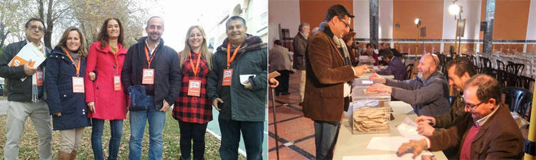PSOE y Ciudadanos muestran su satisfacción por los resultados de las elecciones generales en Utrera
