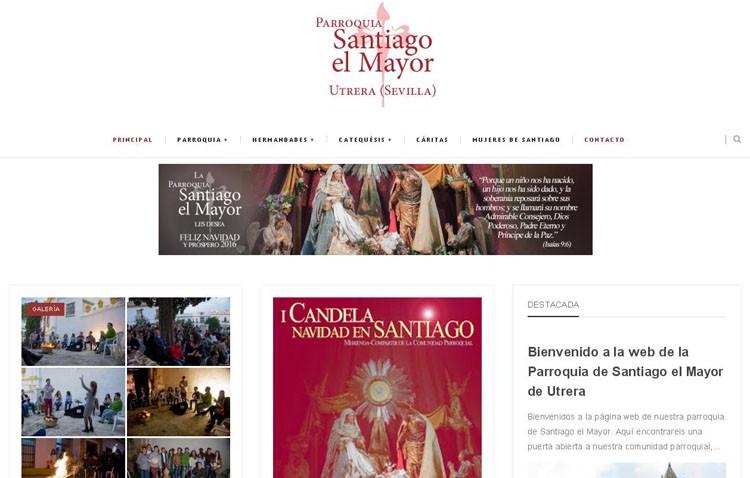 La parroquia de Santiago estrena página web