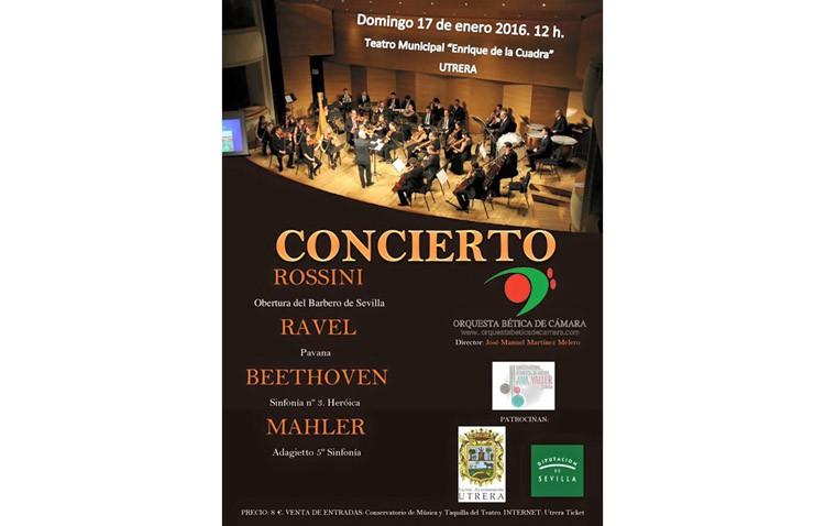 La Orquesta Bética de Cámara regresa a Utrera con un concierto en el teatro