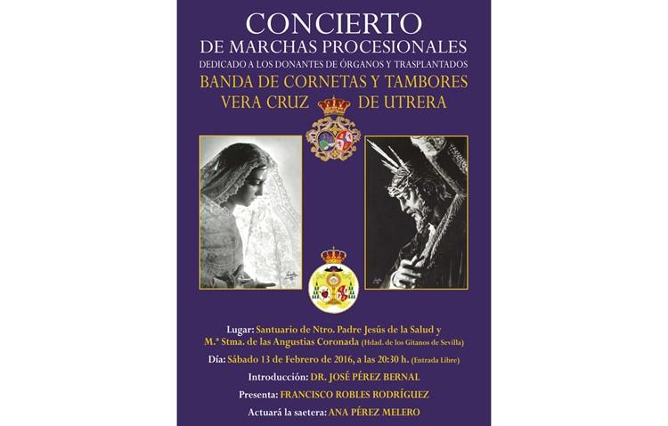 Concierto de la Vera-Cruz en Los Gitanos de Sevilla a favor de las donaciones de órganos
