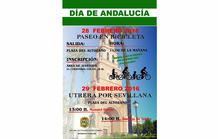 Cantes por sevillanas y paseo en bicicleta para celebrar el Día de Andalucía