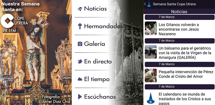 Toda la Semana Santa en la palma de la mano con la «app» de COPE Utrera