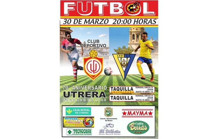El C.D. Utrera se celebra su 70º aniversario con un partido ante el Cádiz C.F.