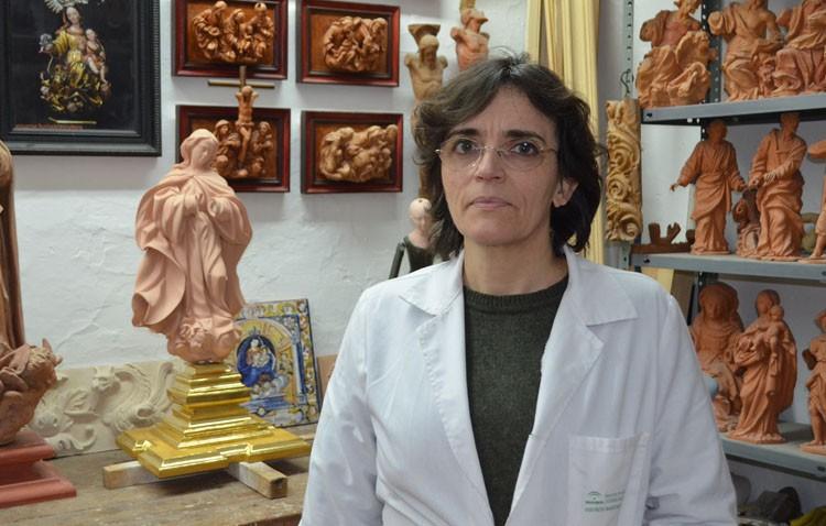 Encarnación Hurtado, una imaginera utrerana con trabajos por toda España