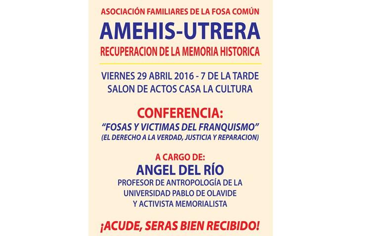 Una conferencia hablará de «Fosas y víctimas del franquismo»
