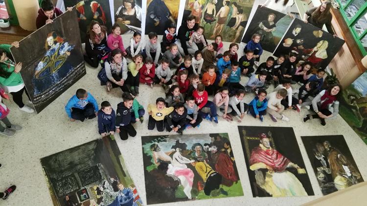 Los alumnos de Infantil del colegio Coca de la Piñera descubren a Velázquez (IMÁGENES)