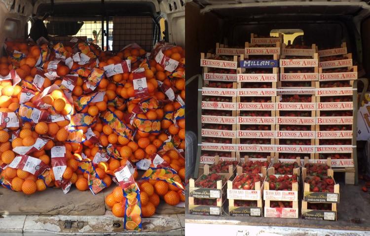 Dos utreranos denunciados en la provincia de Cádiz por venta ilegal de fruta
