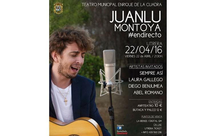 El nuevo disco de Juanlu Montoya se grabará en directo con un concierto en el teatro de Utrera