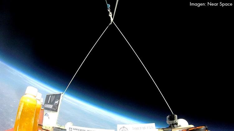 Una cápsula viaja a más de 33 kilómetros de altura, desde el patio de los Salesianos a la estratosfera (IMÁGENES)