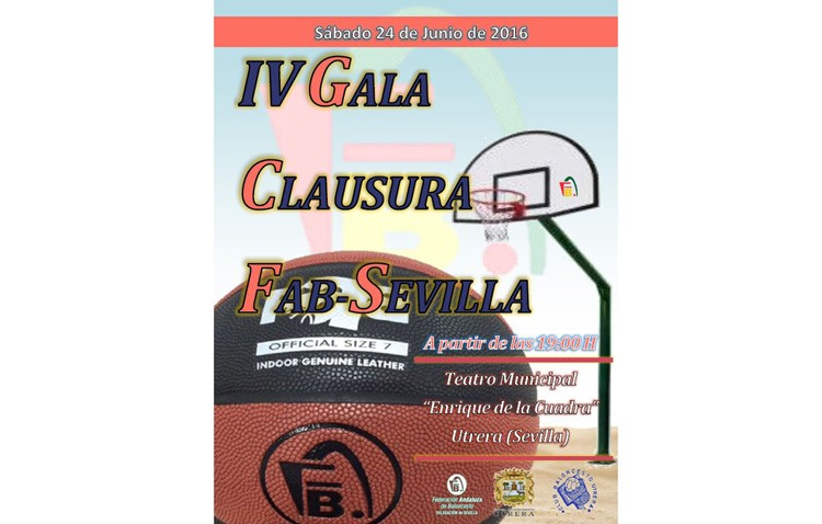 La Federación Andaluza de Baloncesto cierra la temporada con una gala en Utrera
