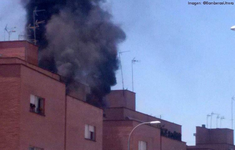Desalojado un bloque de Brigadas Internacionales por el incendio en una vivienda