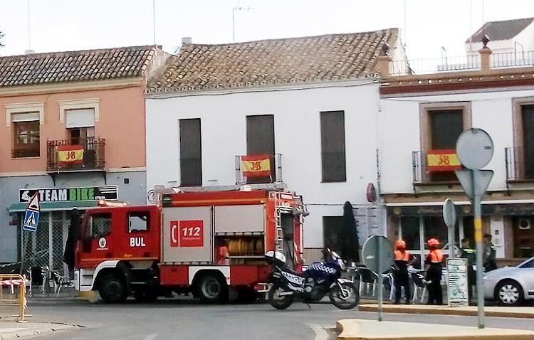 Registrado un incendio en la trastienda de una pollería en la plaza de la Trianilla