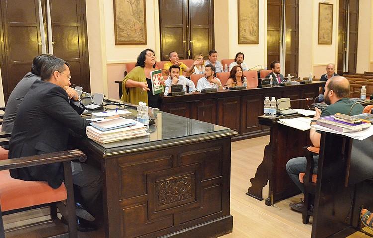 Villalobos expulsa del pleno a la portavoz del PA tras su reacción ante los «insultos» del portavoz del gobierno (AUDIO)