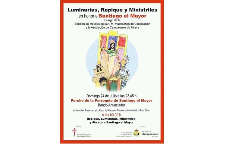 Luminarias, ministriles y repiques de campanas, junto al tradicional abrazo a Santiago el Mayor