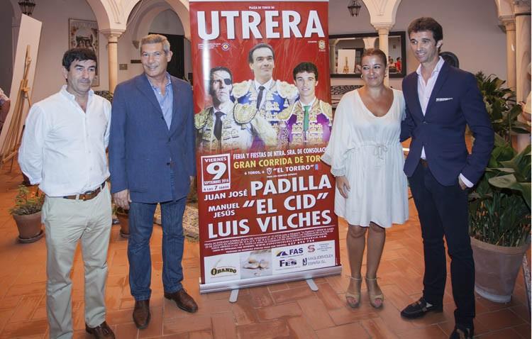Padilla, El Cid y Luis Vilches en la corrida de toros de la feria de Utrera
