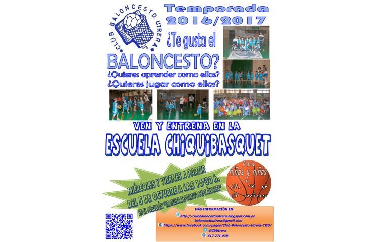 El Club Baloncesto Utrera inicia el curso con su «Chiquibasquet»