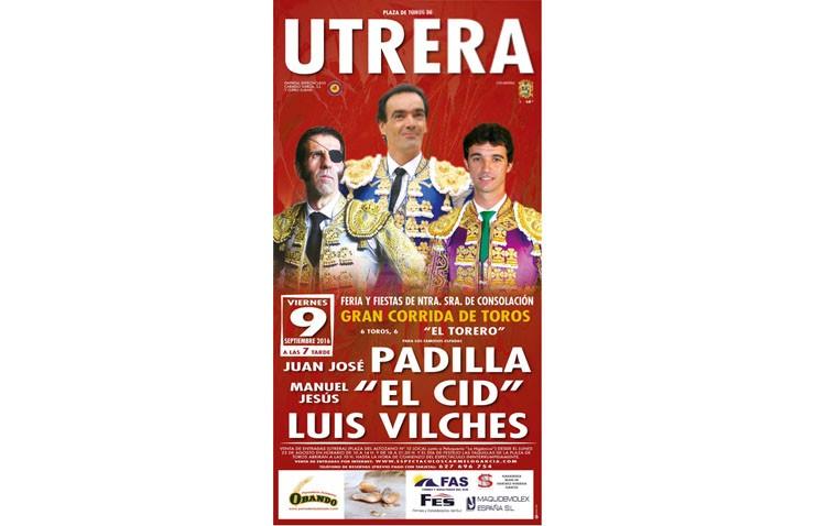 Padilla, El Cid y Vilches, protagonistas de la corrida de toros de feria