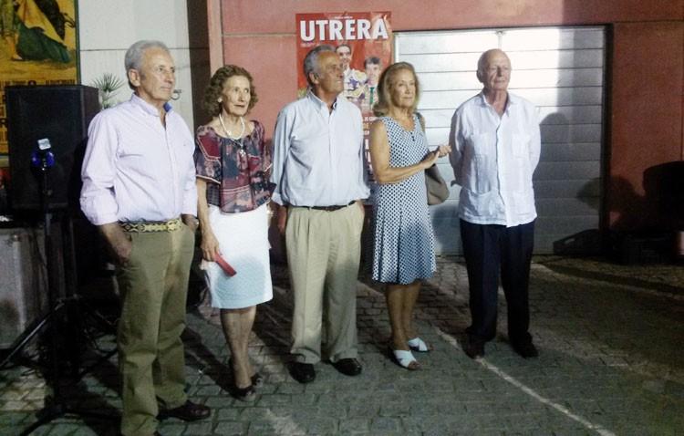 Utrera homenajeó a la familia Guardiola