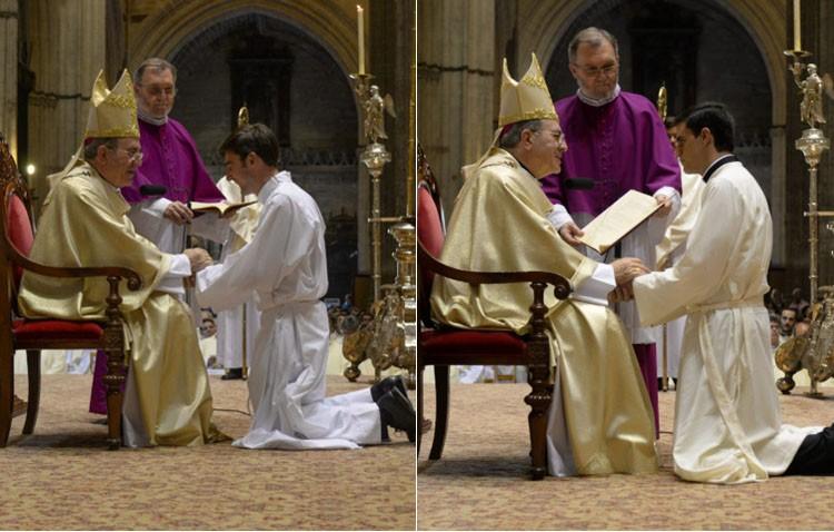 Plácido Díaz y Carlos Romero, dos jóvenes de 23 años ordenados diáconos (IMÁGENES Y AUDIO)