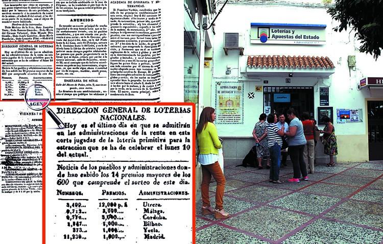La administración de Loterías número 1 de Utrera, repartiendo premios desde comienzos del siglo XIX