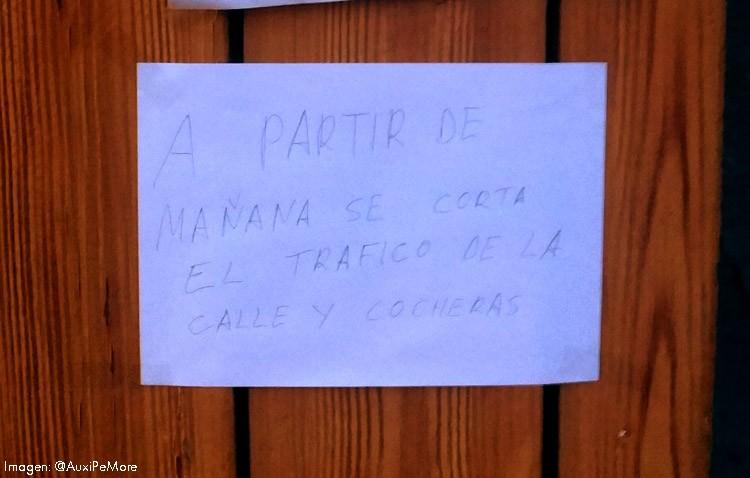 Los vecinos de la calle Campana denuncian una nueva «chapuza» en la obra de Pío XII y falta de información