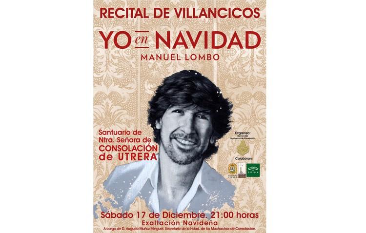 Manuel Lombo, este miércoles en Utrera para presentar su concierto navideño