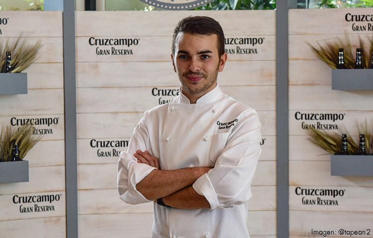 El utrerano Daniel León, en un concurso nacional de cocina