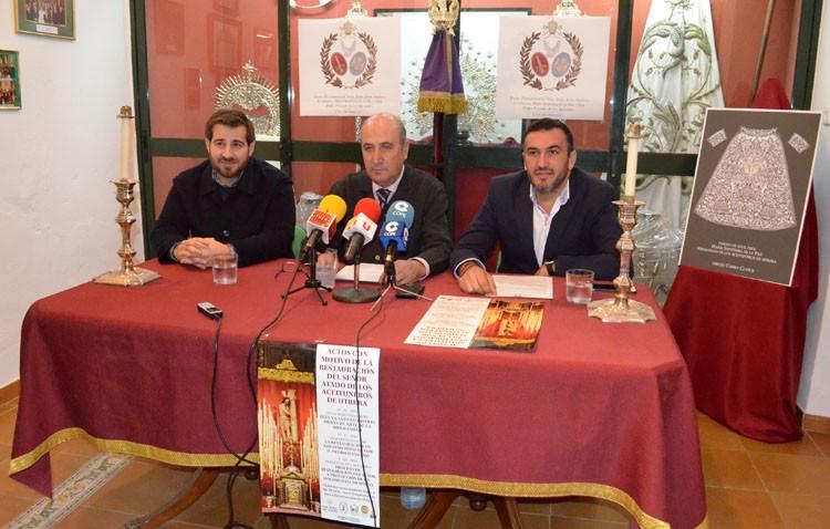Una mesa redonda, una conferencia y un libro, actos de los Aceituneros tras la restauración del Señor Atado a la Columna